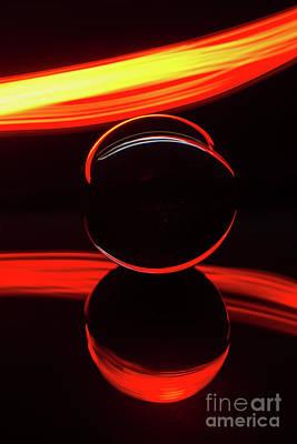 Photograph - The Light Painter 1 by Steve Purnell