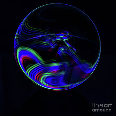 Photograph - The Light Painter 12 by Steve Purnell
