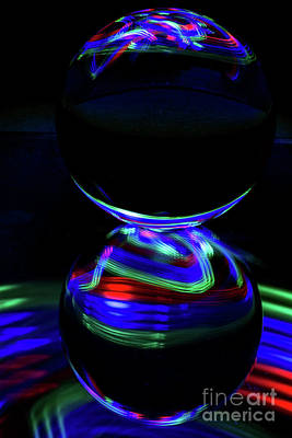 Photograph - The Light Painter 14 by Steve Purnell