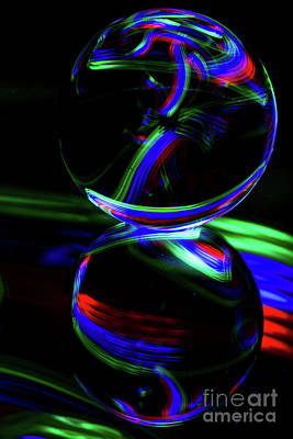 Photograph - The Light Painter 16 by Steve Purnell