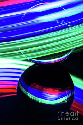 Photograph - The Light Painter 17 by Steve Purnell