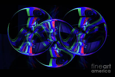 Photograph - The Light Painter 19 by Steve Purnell
