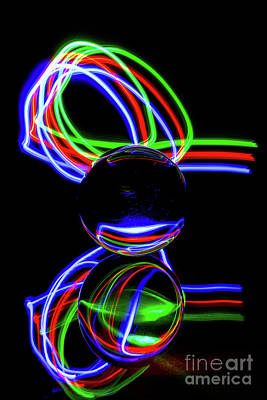 Photograph - The Light Painter 21 by Steve Purnell