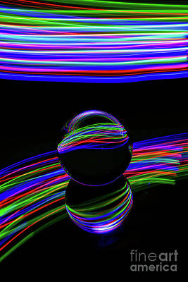 Photograph - The Light Painter 22 by Steve Purnell