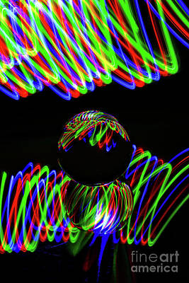 Photograph - The Light Painter 23 by Steve Purnell