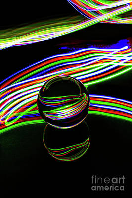 Photograph - The Light Painter 24 by Steve Purnell