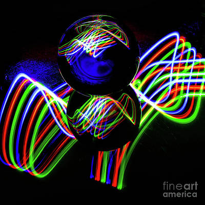 Photograph - The Light Painter 25 by Steve Purnell