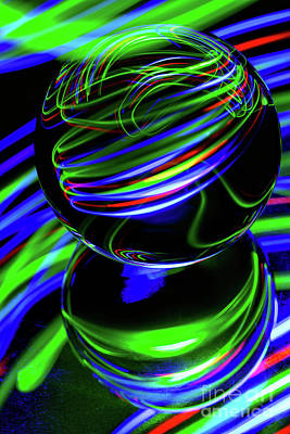 Photograph - The Light Painter 26 by Steve Purnell
