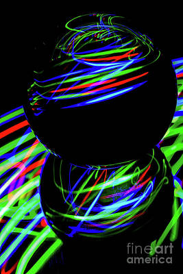 Photograph - The Light Painter 27 by Steve Purnell