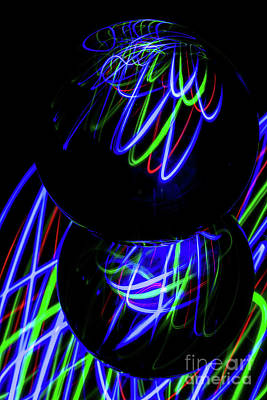 Photograph - The Light Painter 28 by Steve Purnell