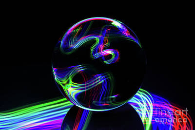 Photograph - The Light Painter 29 by Steve Purnell