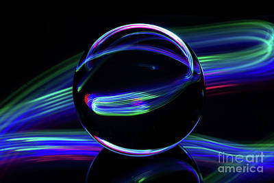Photograph - The Light Painter 31 by Steve Purnell