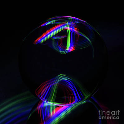 Photograph - The Light Painter 32 by Steve Purnell