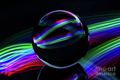 Photograph - The Light Painter 33 by Steve Purnell