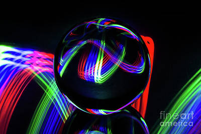 Photograph - The Light Painter 34 by Steve Purnell