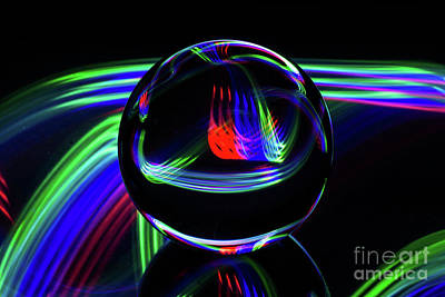 Photograph - The Light Painter 36 by Steve Purnell