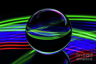Photograph - The Light Painter 37 by Steve Purnell