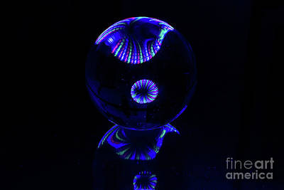 Photograph - The Light Painter 40 by Steve Purnell