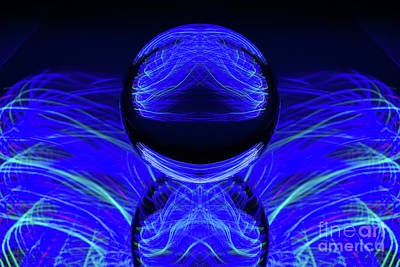 Photograph - The Light Painter 42 by Steve Purnell