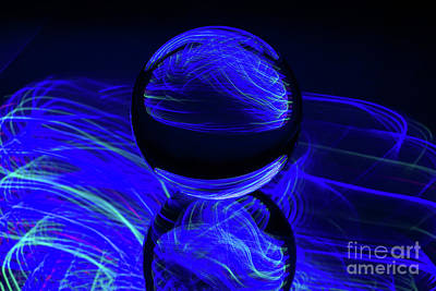 Photograph - The Light Painter 43 by Steve Purnell