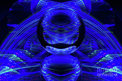 Photograph - The Light Painter 44 by Steve Purnell