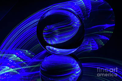 Photograph - The Light Painter 45 by Steve Purnell