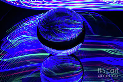 Photograph - The Light Painter 47 by Steve Purnell