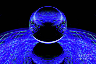 Photograph - The Light Painter 52 by Steve Purnell