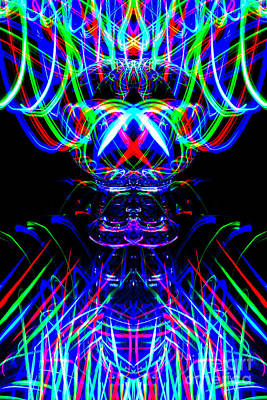 Photograph - The Light Painter 53 by Steve Purnell