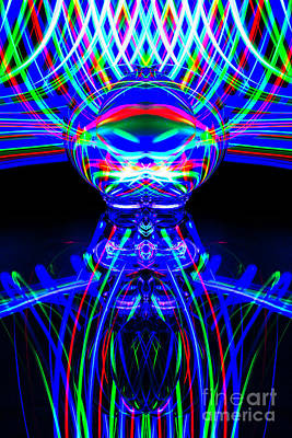 Photograph - The Light Painter 54 by Steve Purnell