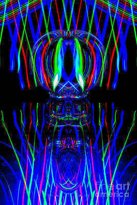 Photograph - The Light Painter 55 by Steve Purnell
