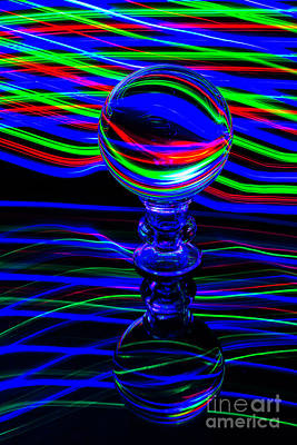 Photograph - The Light Painter 56 by Steve Purnell