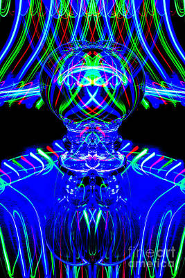 Photograph - The Light Painter 59 by Steve Purnell