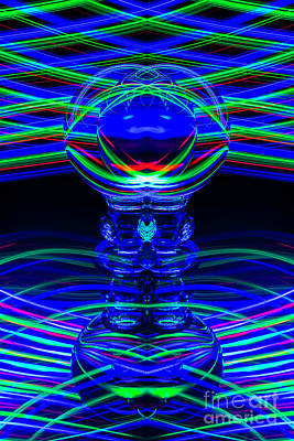 Photograph - The Light Painter 60 by Steve Purnell