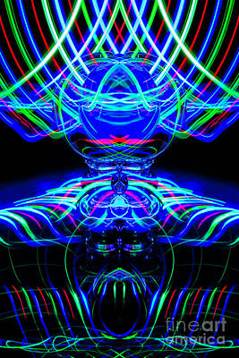 Photograph - The Light Painter 61 by Steve Purnell