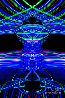 Photograph - The Light Painter 62 by Steve Purnell