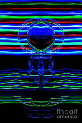 Photograph - The Light Painter 63 by Steve Purnell