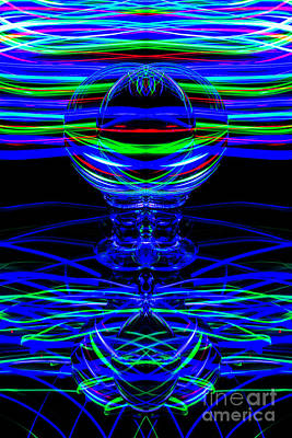 Photograph - The Light Painter 65 by Steve Purnell