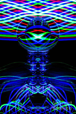Photograph - The Light Painter 67 by Steve Purnell