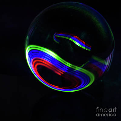 Photograph - The Light Painter 8 by Steve Purnell
