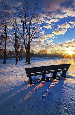 Print featuring the photograph The Light That Beckons by Phil Koch