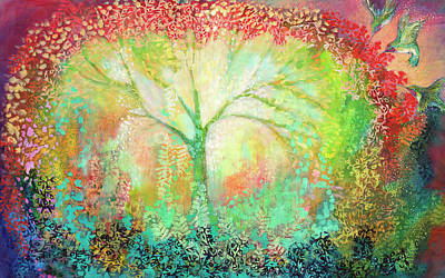 Hummingbird Painting - The Light Within by Jennifer Lommers