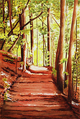 Wall Art - Painting - The Lighted Path by Terry Arroyo Mulrooney