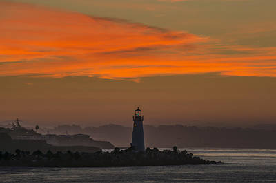 The Lighthouse At Daybreak Art Print by Bruce Frye