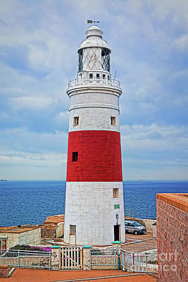 Photograph - The Lighthouse At Europa Point by Sue Melvin
