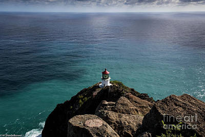 Photograph -  The Lighthouse At Makapu'u  by Mitch Shindelbower