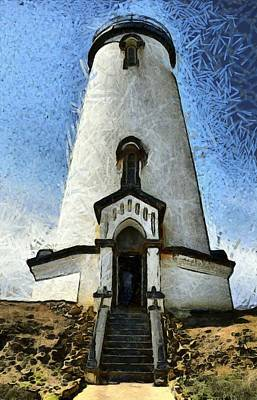 Photograph - The Lighthouse At Piedras Blancas  by Floyd Snyder
