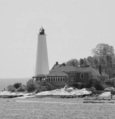 Photograph - The Lighthouse-bw by Charles HALL