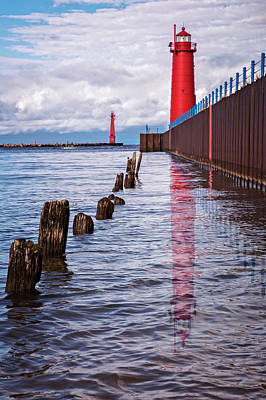 Photograph - The Lighthouse by Debra and Dave Vanderlaan