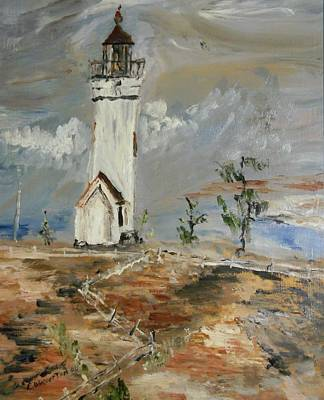 The Lighthouse Art Print by Edward Wolverton